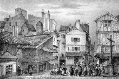 Image 3D de la place du Vieux Marché à Bordeaux