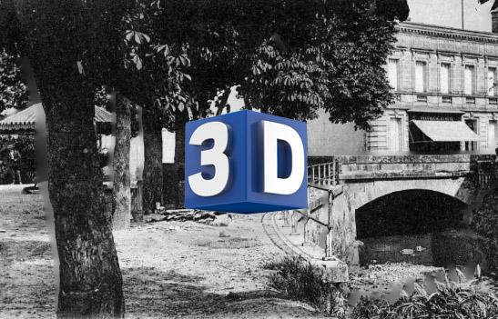 (3D) Le pont de la Pimpine à Latresne